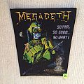 Megadeth - So Far, So Good... So What!? - Vintage Backpatch - Purple Version