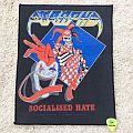 Atrophy - Socialised Hate - 1990 - Blue Grape - Back Patch - Razamataz