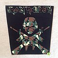 Iron Maiden - A Matter Of Life And Death - Camouflage Logo - Backpatch