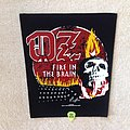 OZ - Fire In The Brain - Black Border - 2019 OZ Burning Leather - Backpatch