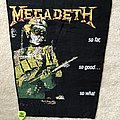 Megadeth - So Far So Good So What - vintage backpatch version II