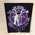 Witchfynde - Give 'Em Hell - Black Border - 2019 Witchfynde Burning Leather - Backpatch