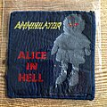 Annihilator - Patch - Annihilator ALice in Hell 1989 Blue Grape Merchandising BLUE BORDER