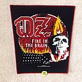 OZ - Fire In The Brain - Red Border - 2019 OZ Burning Leather - Backpatch