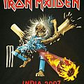 Iron maiden 2007 Ed fest India tour shirt