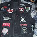 Black thrash vest With Gama Bomb backpatch