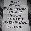 Fejd - Stockholm Slaughter setlist Other Collectable