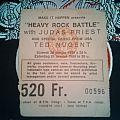 1984 Belgian Judas Priest / Ted Nugent ticket