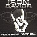 Iron savior heavy metal never dies shirt L