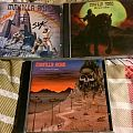 manilla road - the courts of chaos, spiral castle, mysterium signed cds