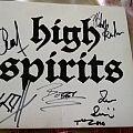 high spirits High Spirits signed cd