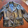 British style leather jacket