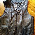 leather biker vest Battle Jacket