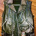 Leather Motor Vest Battle Jacket
