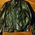 brooks center zip leather jacket