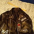 Black metal leather jacket