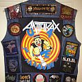 Anthrax - Battle Jacket - The back of my sons vest