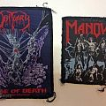 Obituary - Patch - 'Obituary – Cause of Death' and 'Manowar - Fighting the World'...