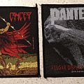 Cancer - Death Shall Rise & Pantera - Vulgar Display of Power - original patches