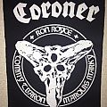 Coroner - Patch - Coroner - Tri Skull backpatch; circa 1990