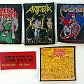 Metal Church, Anthrax, Atrophy, Stryper and Morbid Angel patches