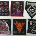 Motley Crue, Megadeth, Twisted Sister, Van Halen, Venom and Motorhead original patches