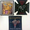 Pestilence – Consuming Impulse, Destroyer 666 – Forever Defiant (World Tour 09-10), and Iron Maiden – Can I Play With Madness pa Patch
