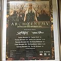 Arch Enemy australian tour poster signed by all members