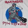"""IRON MAIDEN """"dressed to kill in Chicago"""" XL shirt"""