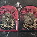 Dismember - Patch - Dismember - Under Bloodred Skies Patch (Black & Red Border)