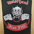 Motörhead - Iron Fist Back Patch (Red / White)