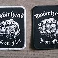 Motörhead - Iron Fist Black / White Patches (Both Borders)