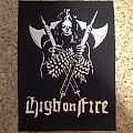 HIGH ON FIRE - Patch - Custom Made High On Fire Backpatch