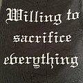 "Satanic Warmaster - TShirt or Longsleeve - Satanic Warmaster - ""Willing to Sacrifice Everything"" shirt"