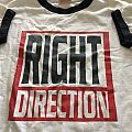 right direction ringer t-shirt