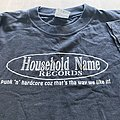 HOUSEHOLD NAME record label t-shirt