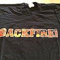 """BACKFIRE """" one off test print""""t-shirt"""