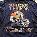 "SHEER TERROR ""spring into action"" hooded sweatshirt"