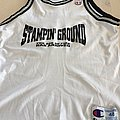 "STAMPIN GROUND "" the age of fire has arrived"" basketball jersey"