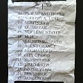 Sodom - Other Collectable - Sodom - Setlist Party.San 2016