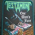 Testament - One Man's Fate woven Patch