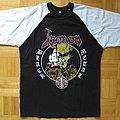 Venom - Black Metal / Cronos On Fire Baseball T- Shirt (Size M)