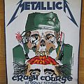 Metallica - Crash Course In Brain Surgery Official Backpatch 1987 (Patch)