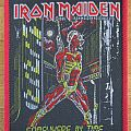 Iron Maiden - Patch - Iron Maiden - Somewhere In Time Patch with red border 1986