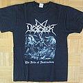 Desaster -The Arts Of Destruction T- Shirt 2012 (Size M)