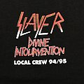 Slayer tour crew 94 95 TShirt or Longsleeve
