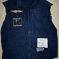 Filthy, disgusting grungelord plaid cut-off Battle Jacket