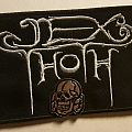 Jex Thoth logo patch hold up on my wall by a totenkopf pin