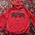 Belphegor - Hooded Top - Belphegor Der Pakt Mit Dem Teufel Red Zipper