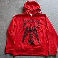 Belphegor Baphomet Zipper  Red Hooded Top